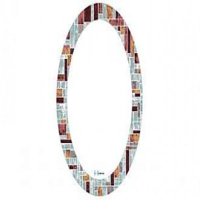 Gương soi ovan họa tiết HÒA BÌNH HBS1-789